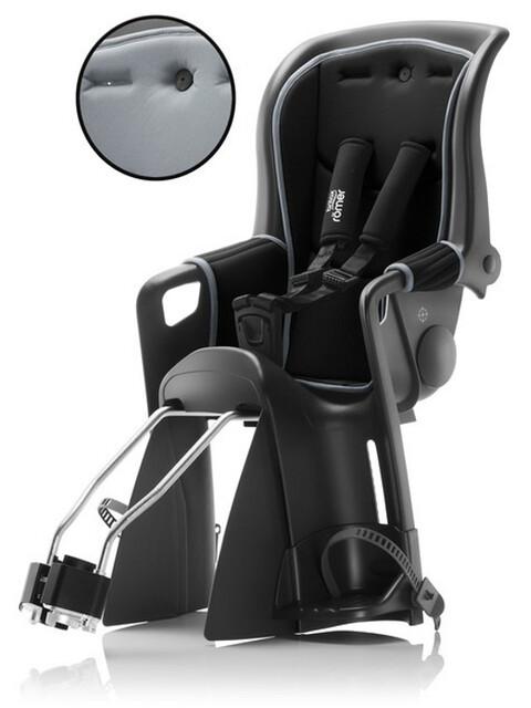 Britax Römer Jockey Relax fietsstoeltje met 2 bekledingen grijs/zwart